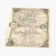 Retro Map 02 04 3d model