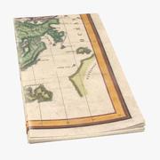 Retro Map 03 01 3d model