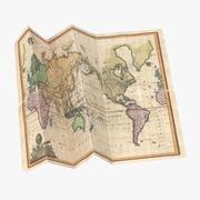 Retro Map 03 02 3d model