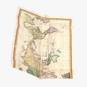 Retro Map 03 03 3d model