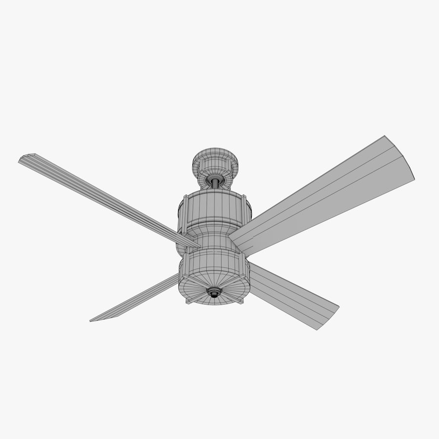 Ceiling Fan royalty-free 3d model - Preview no. 8