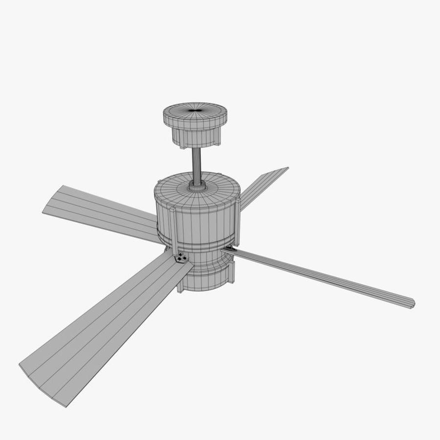 Ceiling Fan royalty-free 3d model - Preview no. 9
