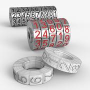 密码锁 3d model