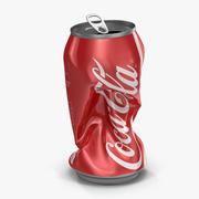 Crushed Soda Can 2 Coca Cola 3D 모델 3d model