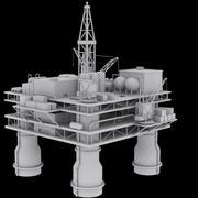 Plate-forme pétrolière Low Poly 3d model