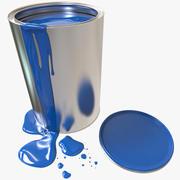 Contenitore di vernice + Flusso di vernice 3d model