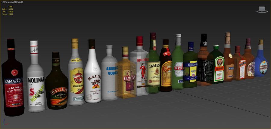アルコール飲料コレクション royalty-free 3d model - Preview no. 5