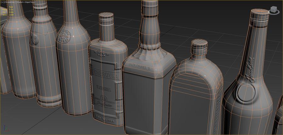アルコール飲料コレクション royalty-free 3d model - Preview no. 9