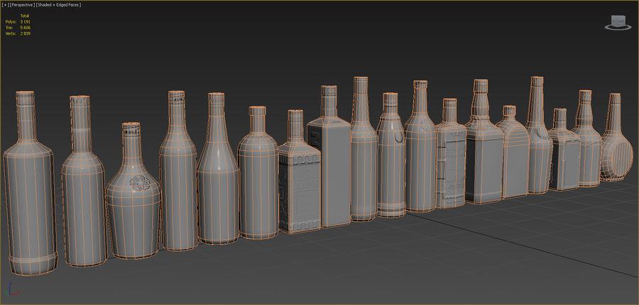 アルコール飲料コレクション royalty-free 3d model - Preview no. 7