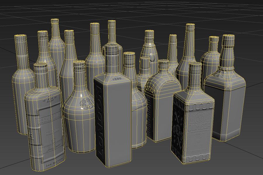 アルコール飲料コレクション royalty-free 3d model - Preview no. 4