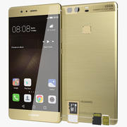 Huawei P9 Plus Haze Gold with SD/SIM Card Tray 3d model