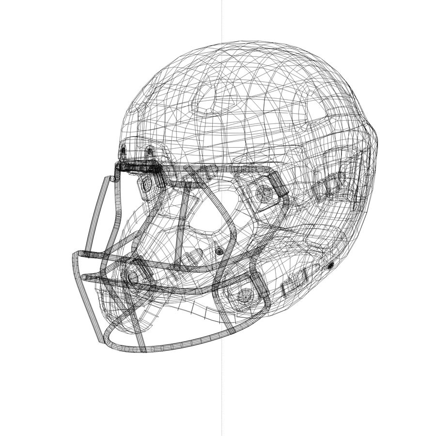 Casco da football royalty-free 3d model - Preview no. 4