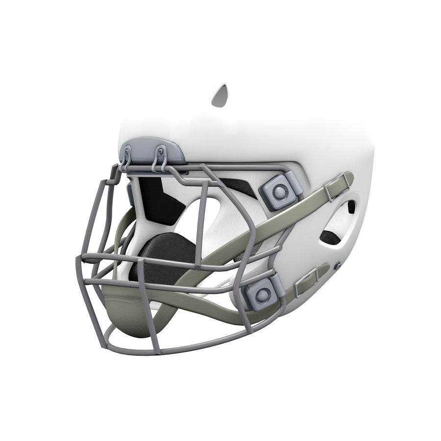 Casco da football royalty-free 3d model - Preview no. 13