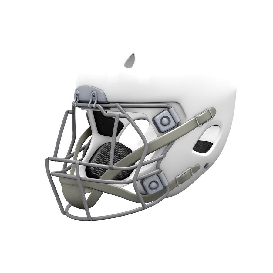 Casco da football royalty-free 3d model - Preview no. 7