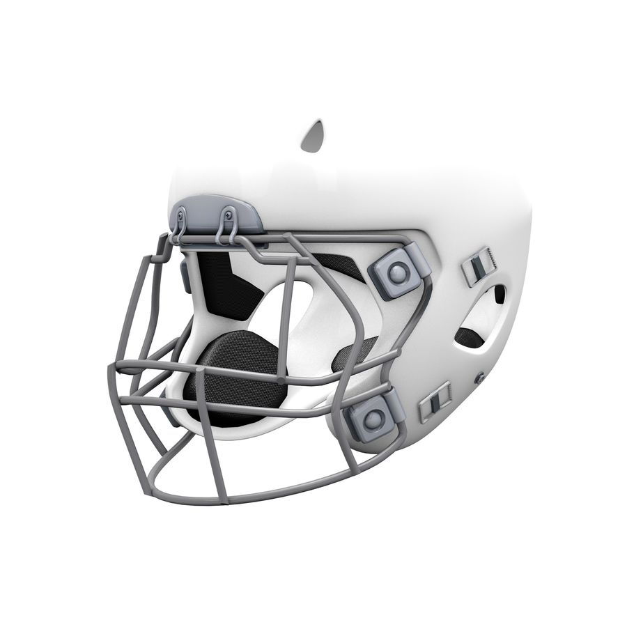 Casco da football royalty-free 3d model - Preview no. 14