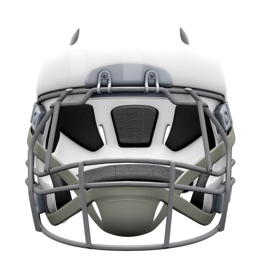 Casco da football royalty-free 3d model - Preview no. 8
