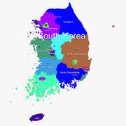 South Korea Map 3d model