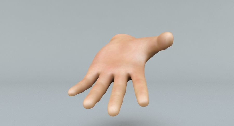 Hand royalty-free 3d model - Preview no. 7