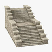 Castle Stairs 02 3d model
