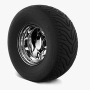 Retro Wheel & Tire Goodyeah 3d model