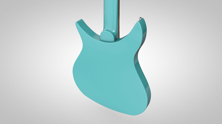 Vintage Electric Guitar royalty-free 3d model - Preview no. 16
