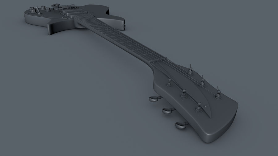 Vintage Electric Guitar royalty-free 3d model - Preview no. 9