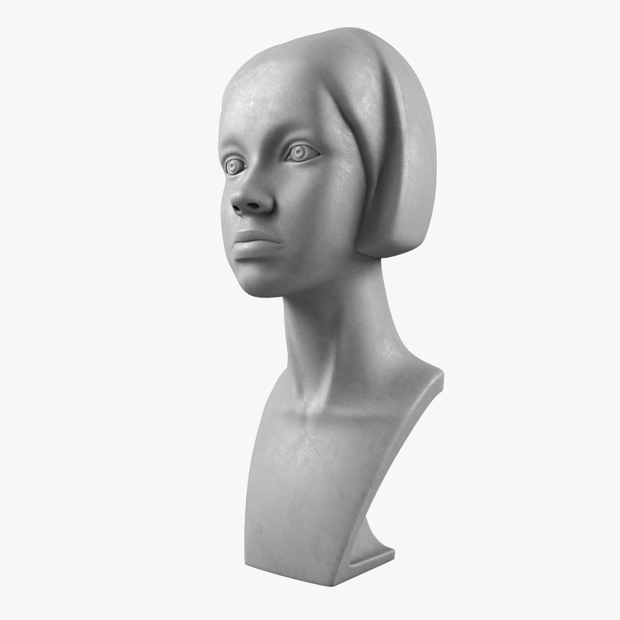 模特头女孩M001 royalty-free 3d model - Preview no. 1