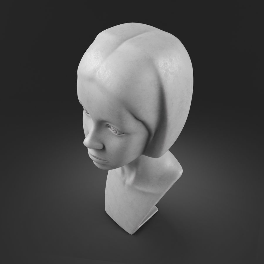 模特头女孩M001 royalty-free 3d model - Preview no. 10