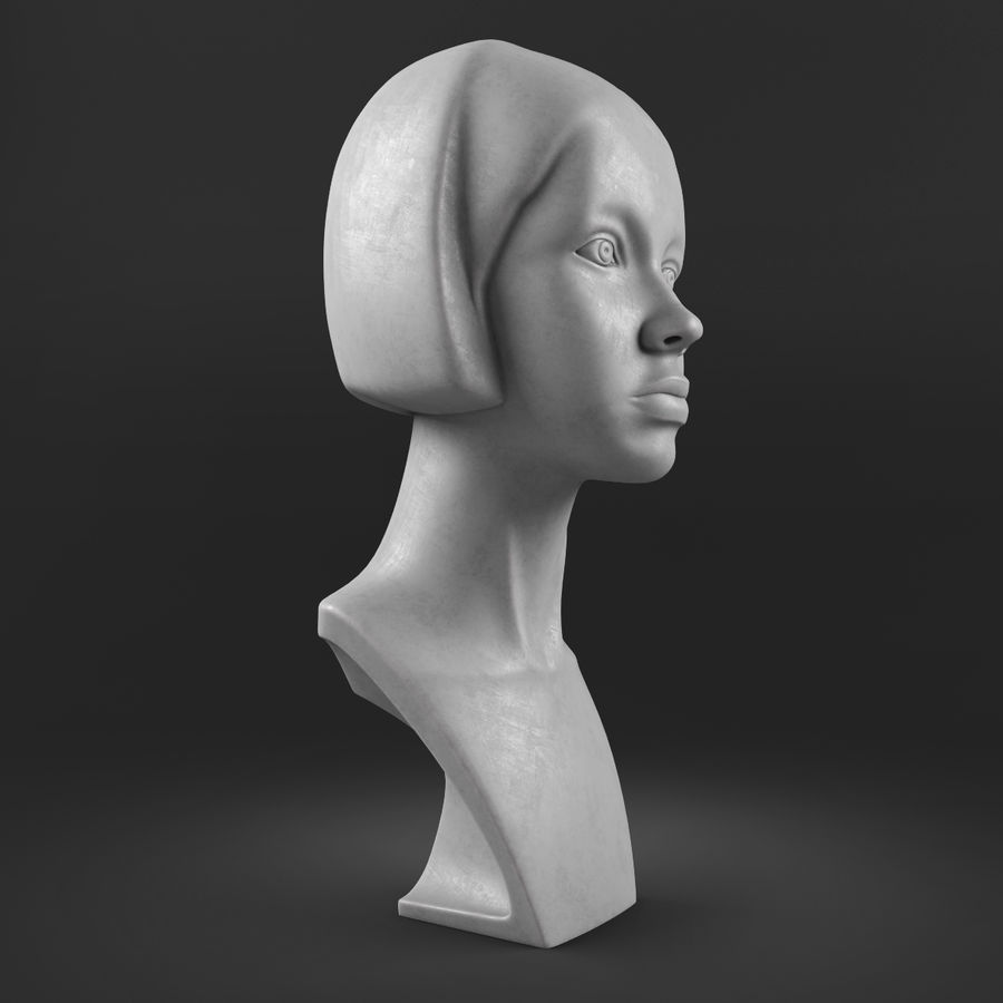 模特头女孩M001 royalty-free 3d model - Preview no. 8