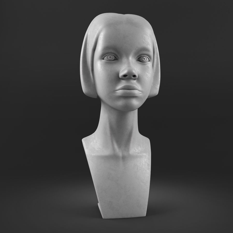 模特头女孩M001 royalty-free 3d model - Preview no. 9