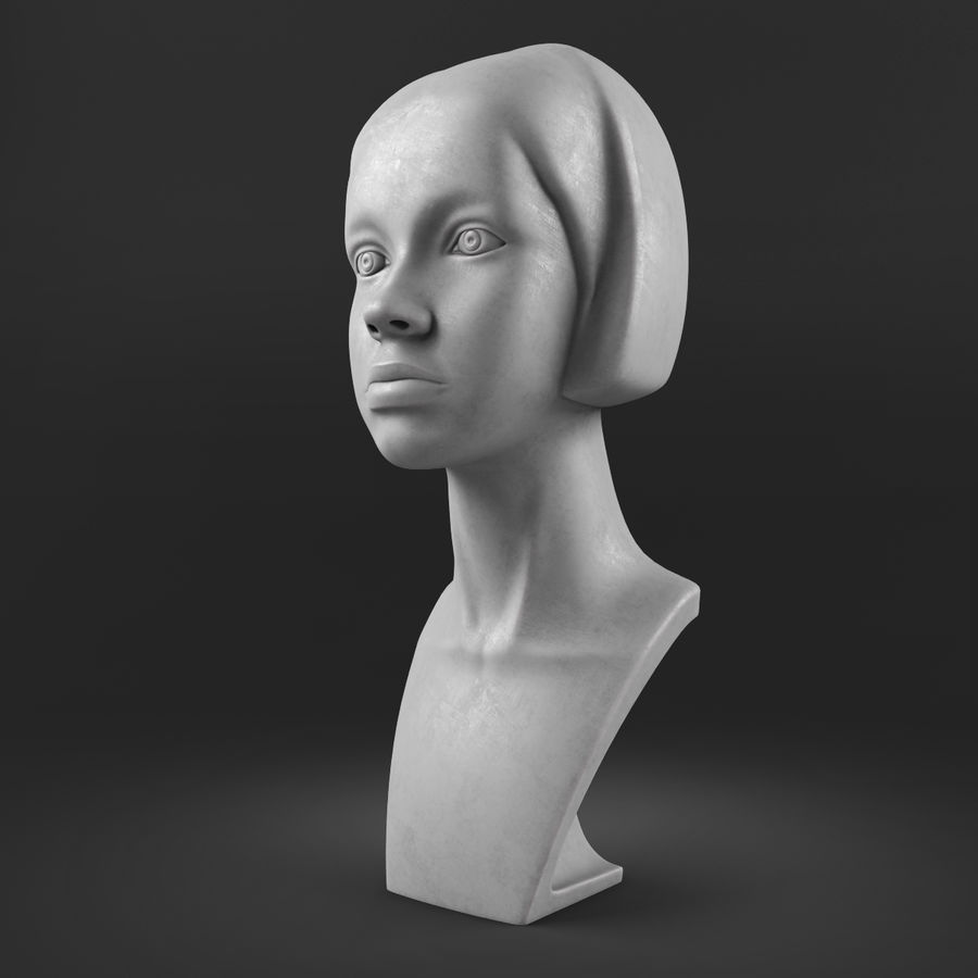模特头女孩M001 royalty-free 3d model - Preview no. 2