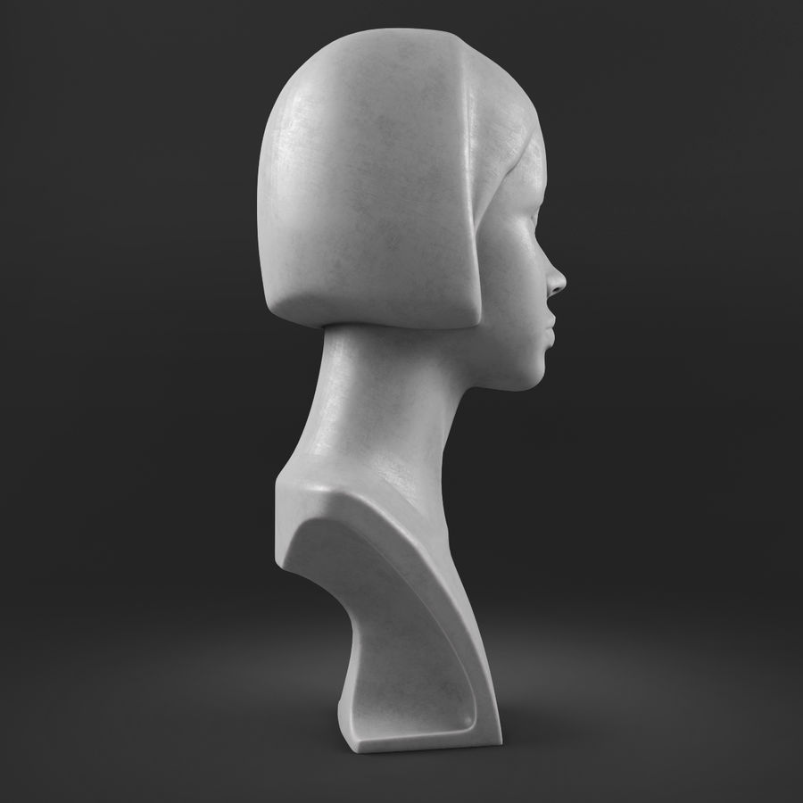 模特头女孩M001 royalty-free 3d model - Preview no. 7