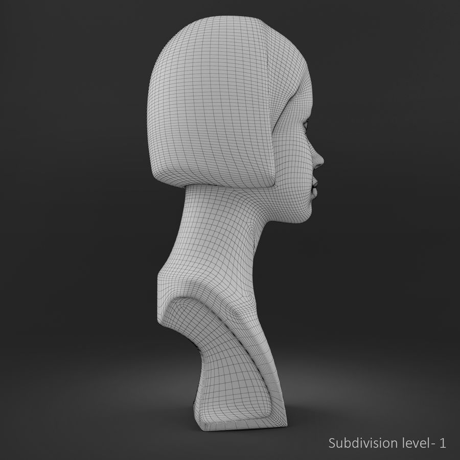 模特头女孩M001 royalty-free 3d model - Preview no. 17