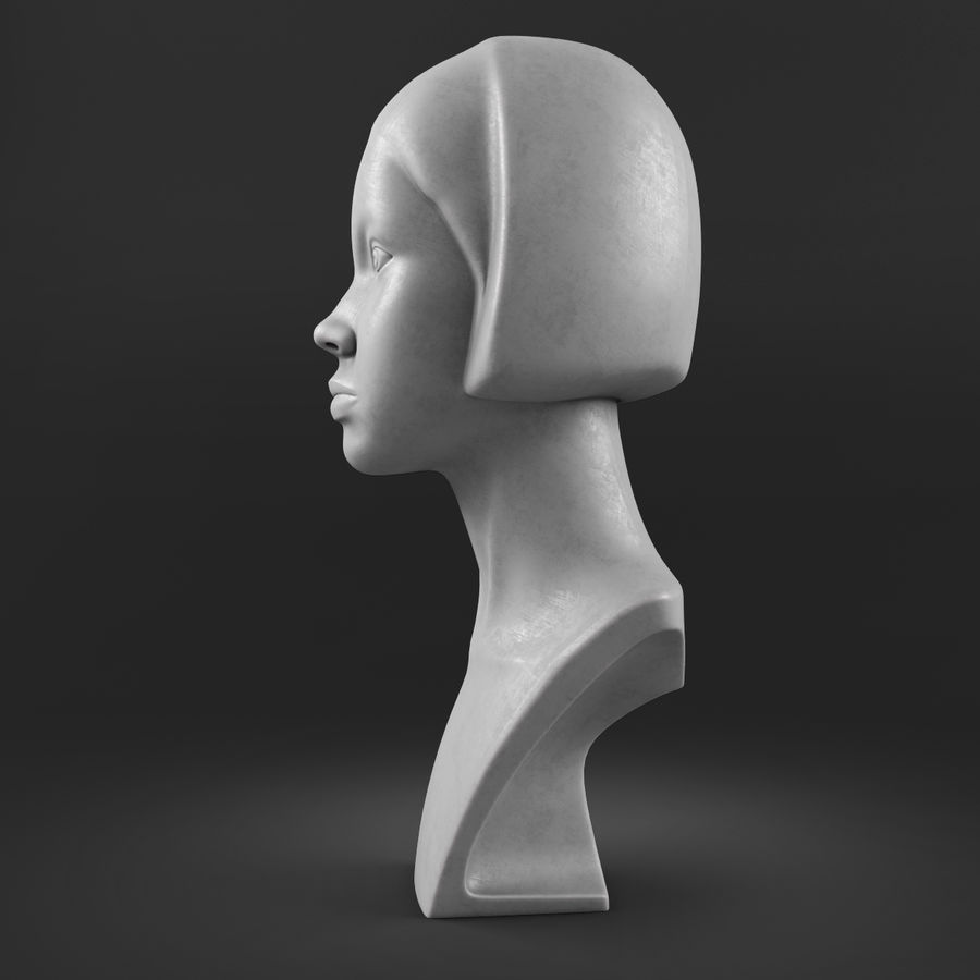 模特头女孩M001 royalty-free 3d model - Preview no. 3