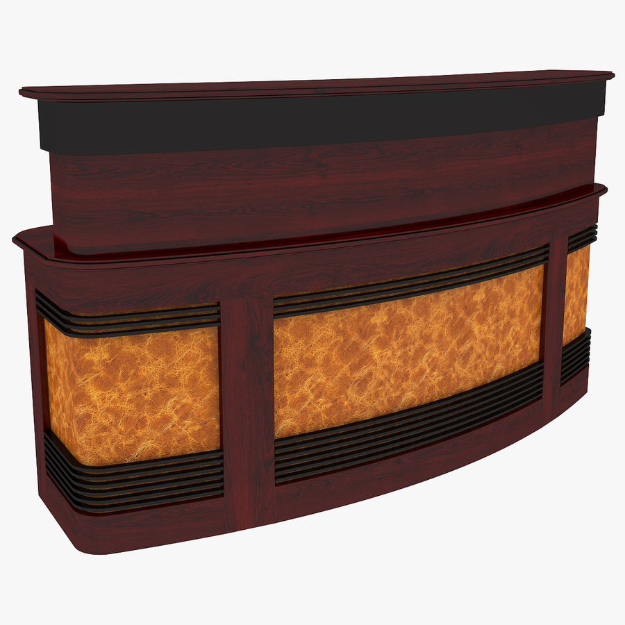 Reception Desk royalty-free 3d model - Preview no. 1