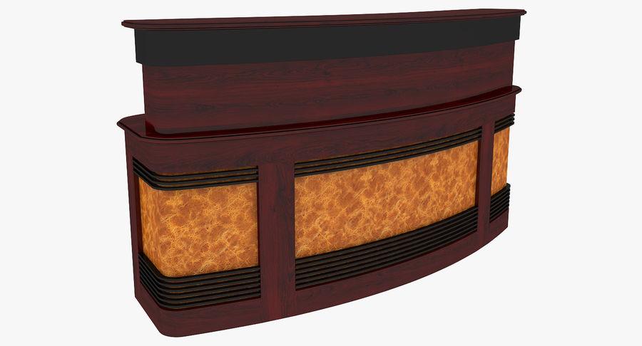 Reception Desk royalty-free 3d model - Preview no. 2