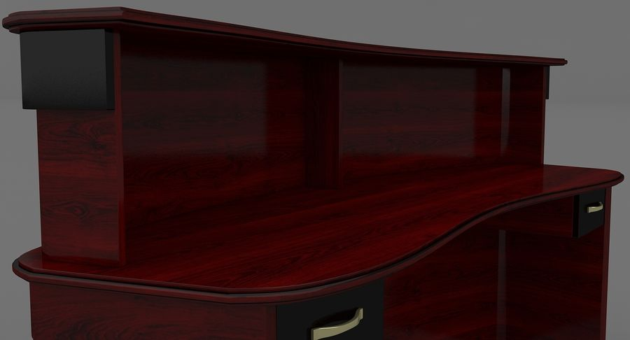 Reception Desk royalty-free 3d model - Preview no. 8