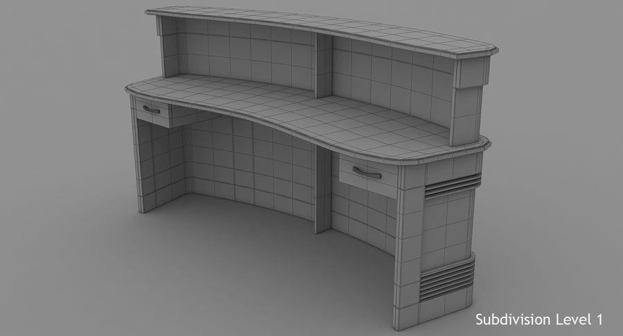 Reception Desk royalty-free 3d model - Preview no. 13