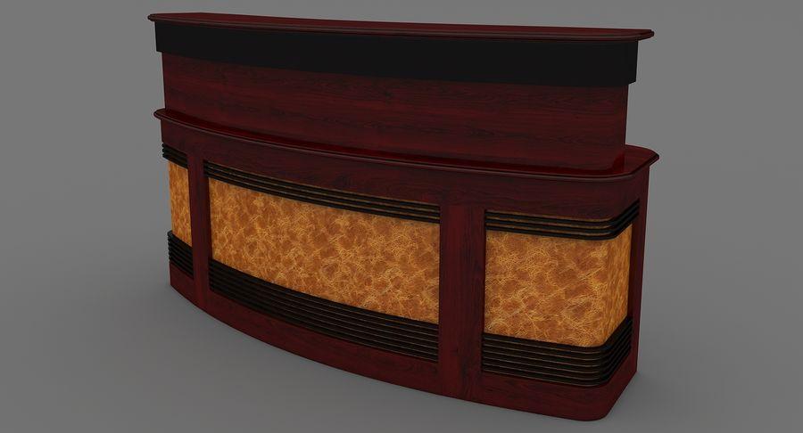 Reception Desk royalty-free 3d model - Preview no. 4