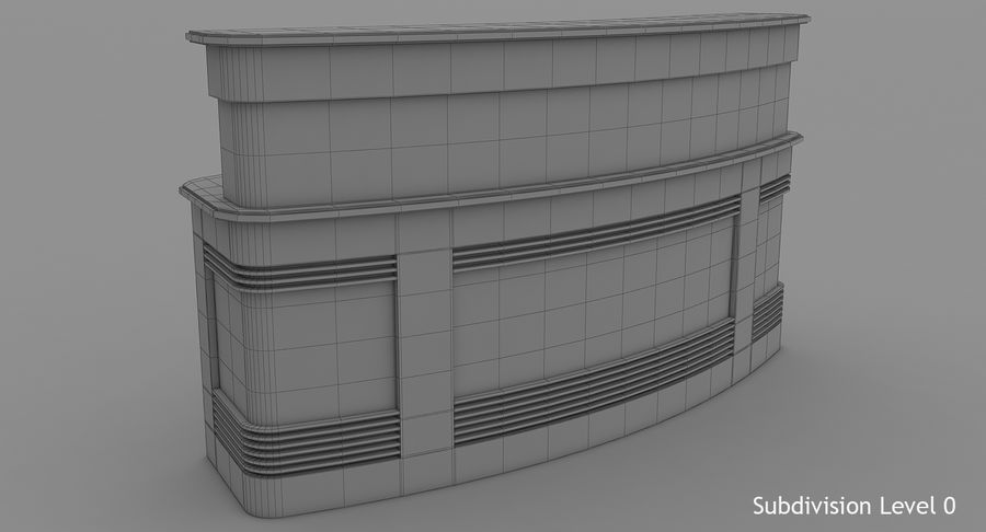 Reception Desk royalty-free 3d model - Preview no. 11
