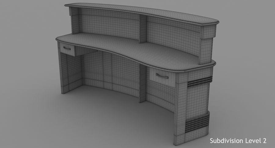 Reception Desk royalty-free 3d model - Preview no. 14