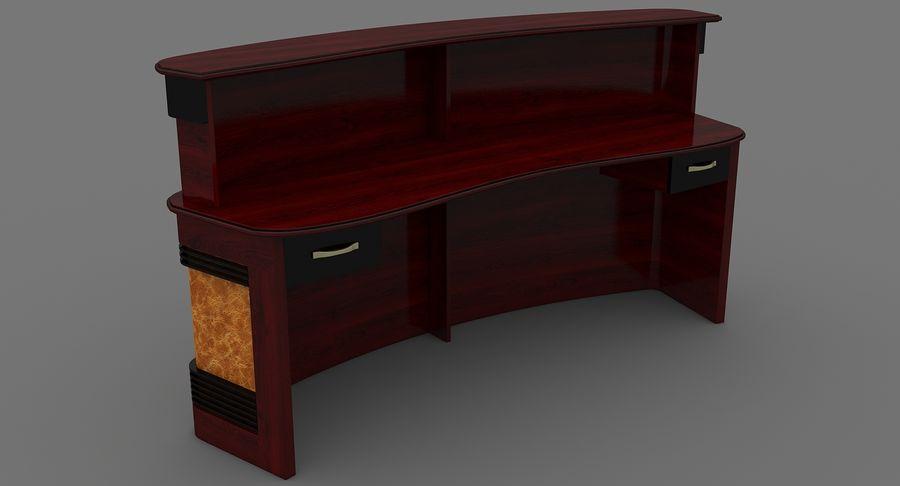 Reception Desk royalty-free 3d model - Preview no. 6