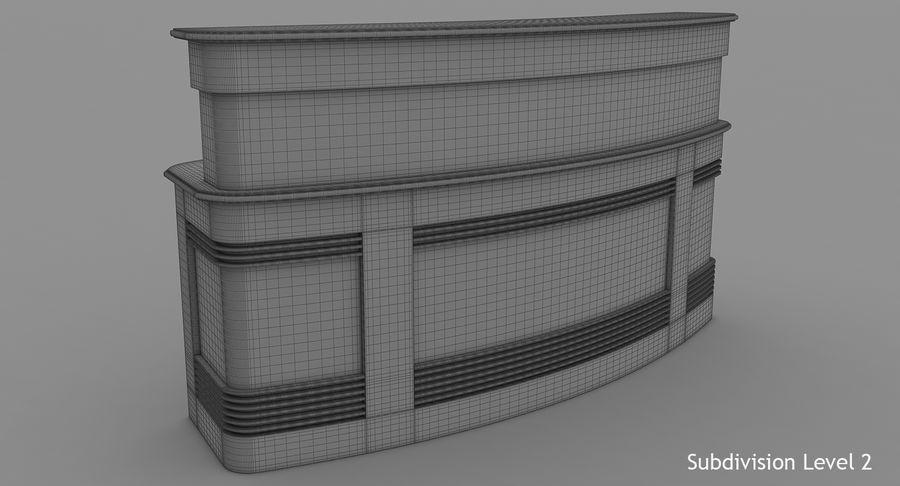 Reception Desk royalty-free 3d model - Preview no. 12
