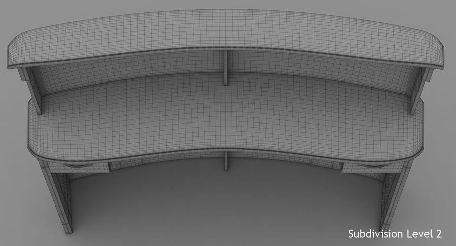 Reception Desk royalty-free 3d model - Preview no. 18
