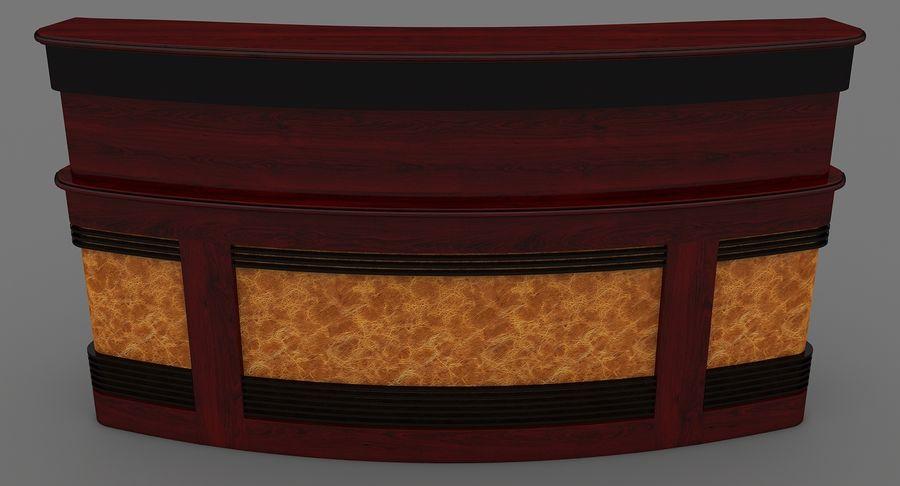 Reception Desk royalty-free 3d model - Preview no. 3