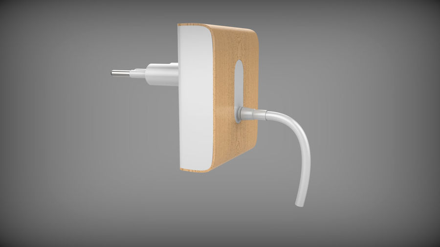 Wood Electronics Charger royalty-free 3d model - Preview no. 2