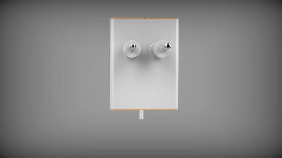 Wood Electronics Charger royalty-free 3d model - Preview no. 4