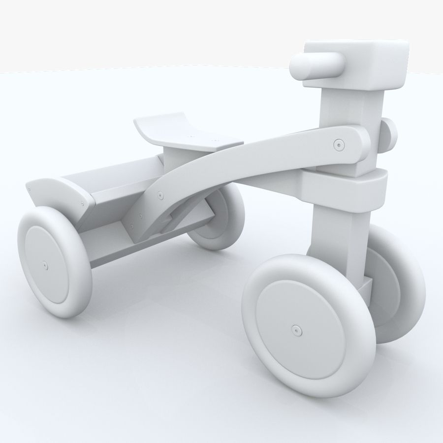 Kinderen driewieler royalty-free 3d model - Preview no. 15