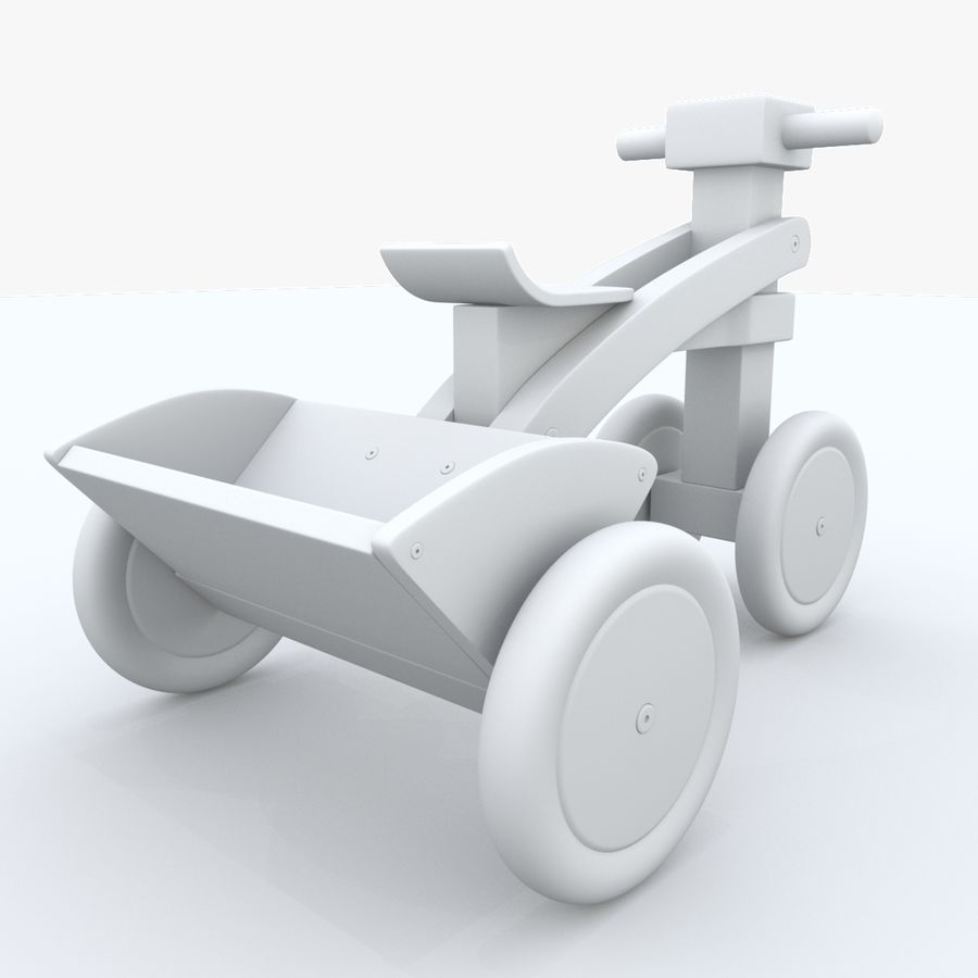 Kinderen driewieler royalty-free 3d model - Preview no. 16