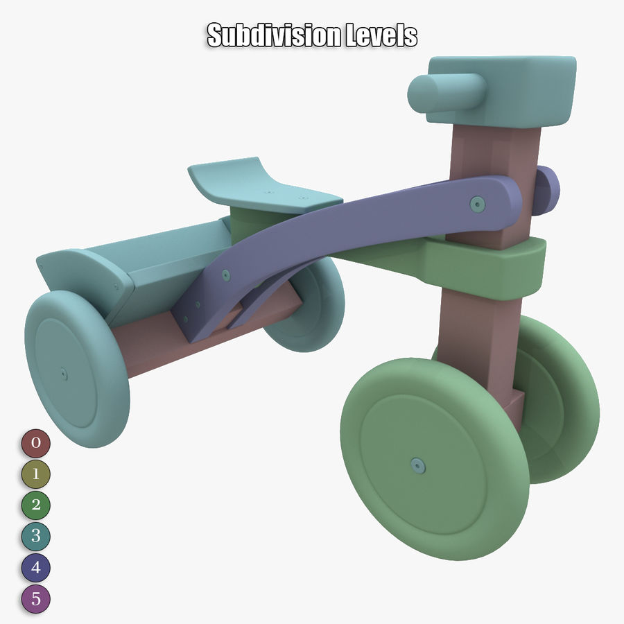 Kinderen driewieler royalty-free 3d model - Preview no. 19